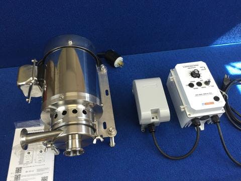 Transfer Pump: Ben Anderson Style Variable Speed Pump Sanitary pump sold by Bob-White Systems