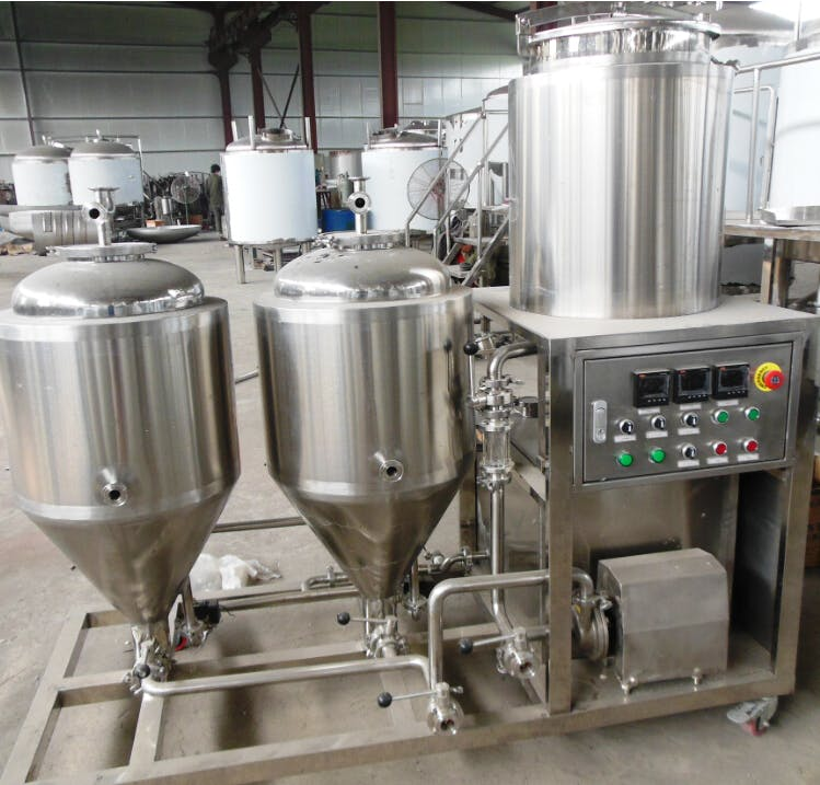 50 L Pilot Brewhouse sold by Prettech Canada