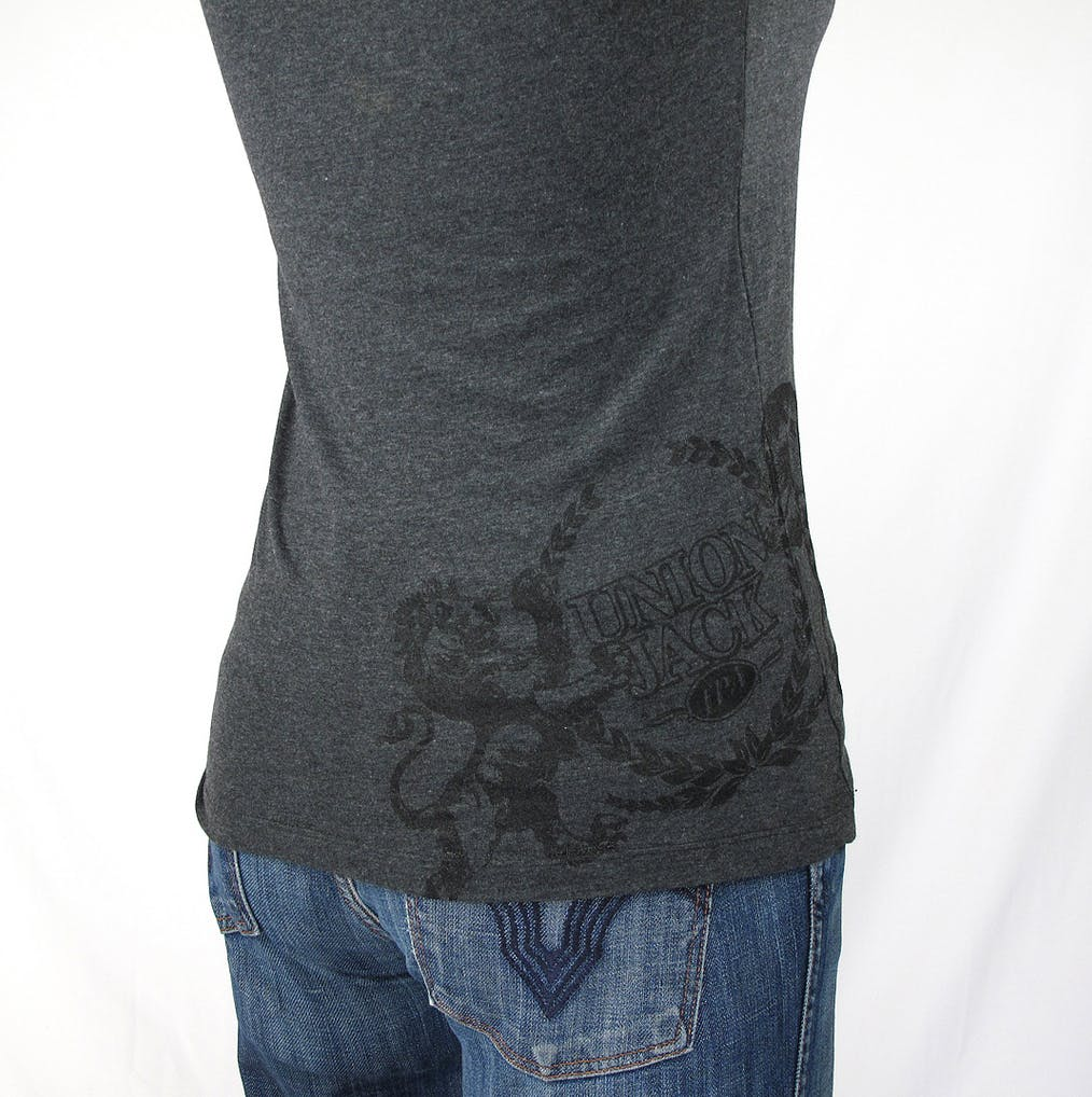 LADIES blended crew neck tee - Firestone Walker Union Jack - hip print Promotional shirt sold by Brewery Outfitters