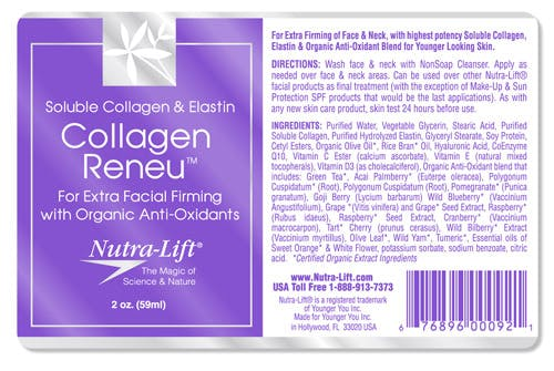 Skin care Bottle label sold by Acro Labels