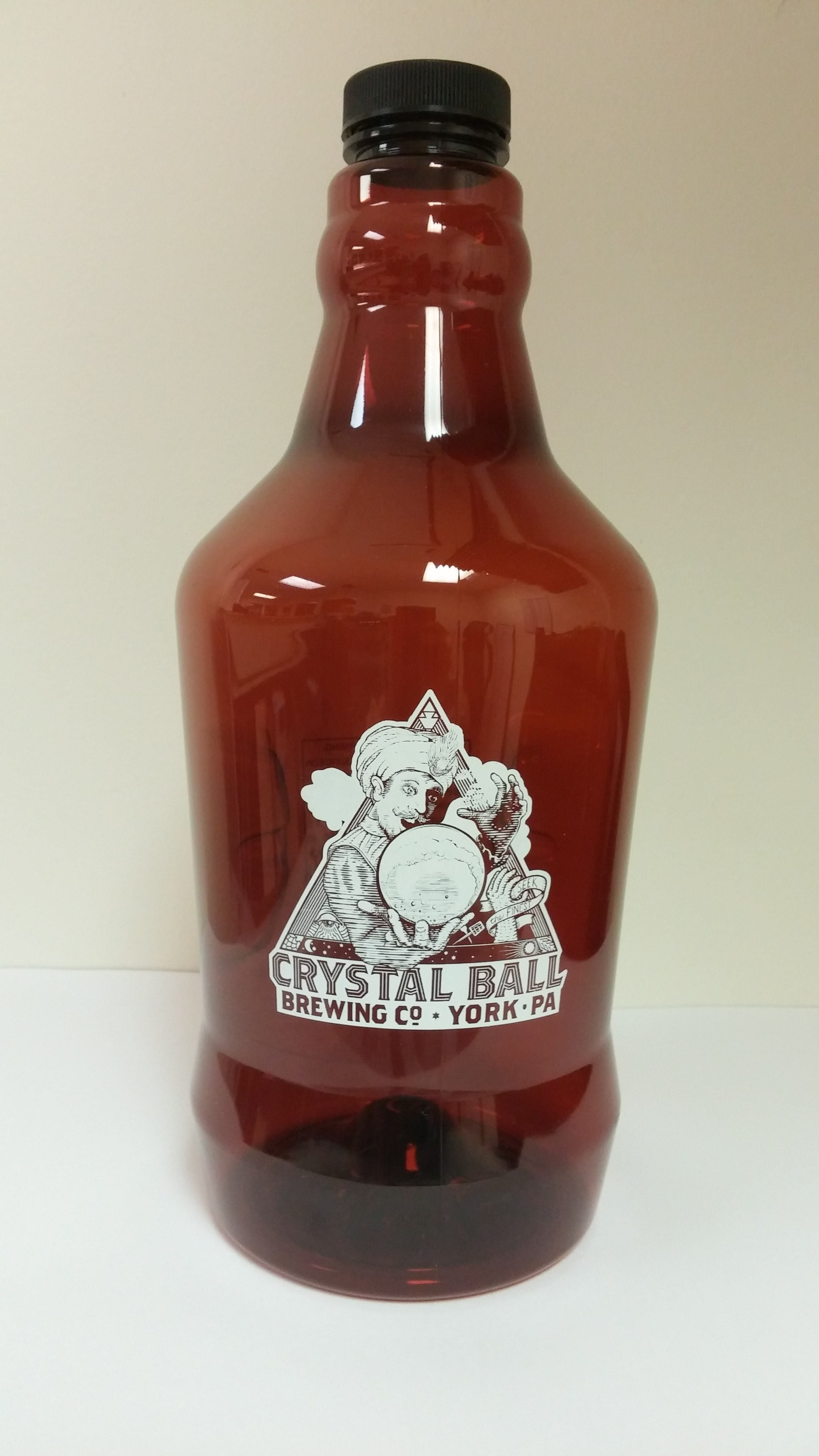 64 oz Amber PET Growler Growler sold by Mission Screen Printing
