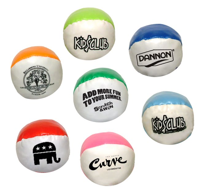 2-Color Stress Kick Ball (Item # YHNJT-CKTQG) Stress ball sold by InkEasy