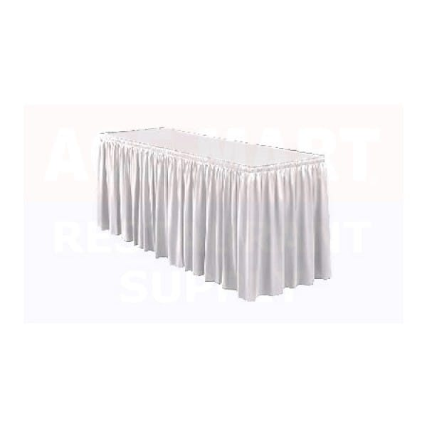 21' White Banquet Table Skirting