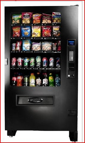 INF5C - Glass Front Snack and Soda Combo Vending machine sold by MEGAvending.com