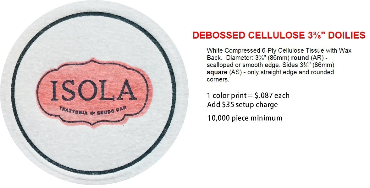 Cellulose Coasters Drink coaster sold by Professional Gifting