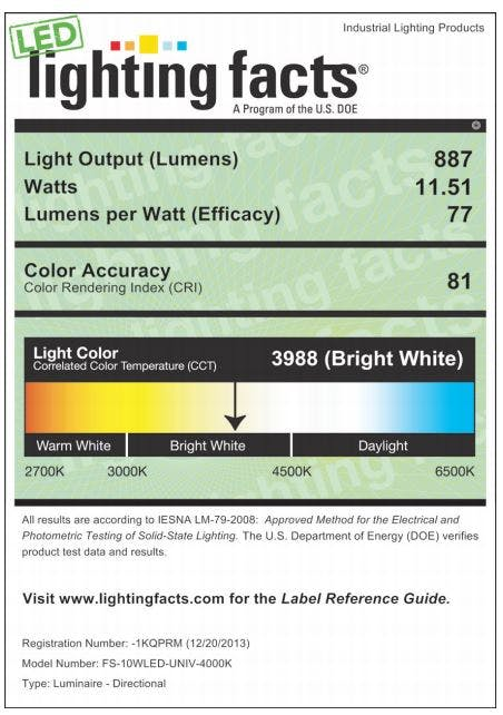 Small LED Flood Light, 10W, 4000K - sold by RelightDepot.com