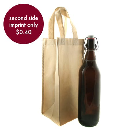 Beer & Wine Bag - 1 Count Promotional product sold by Prestige Glassware
