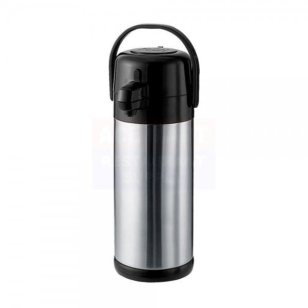 Eco-Air® 2.2 L Black Stainless Airpot w/ Pump Lid