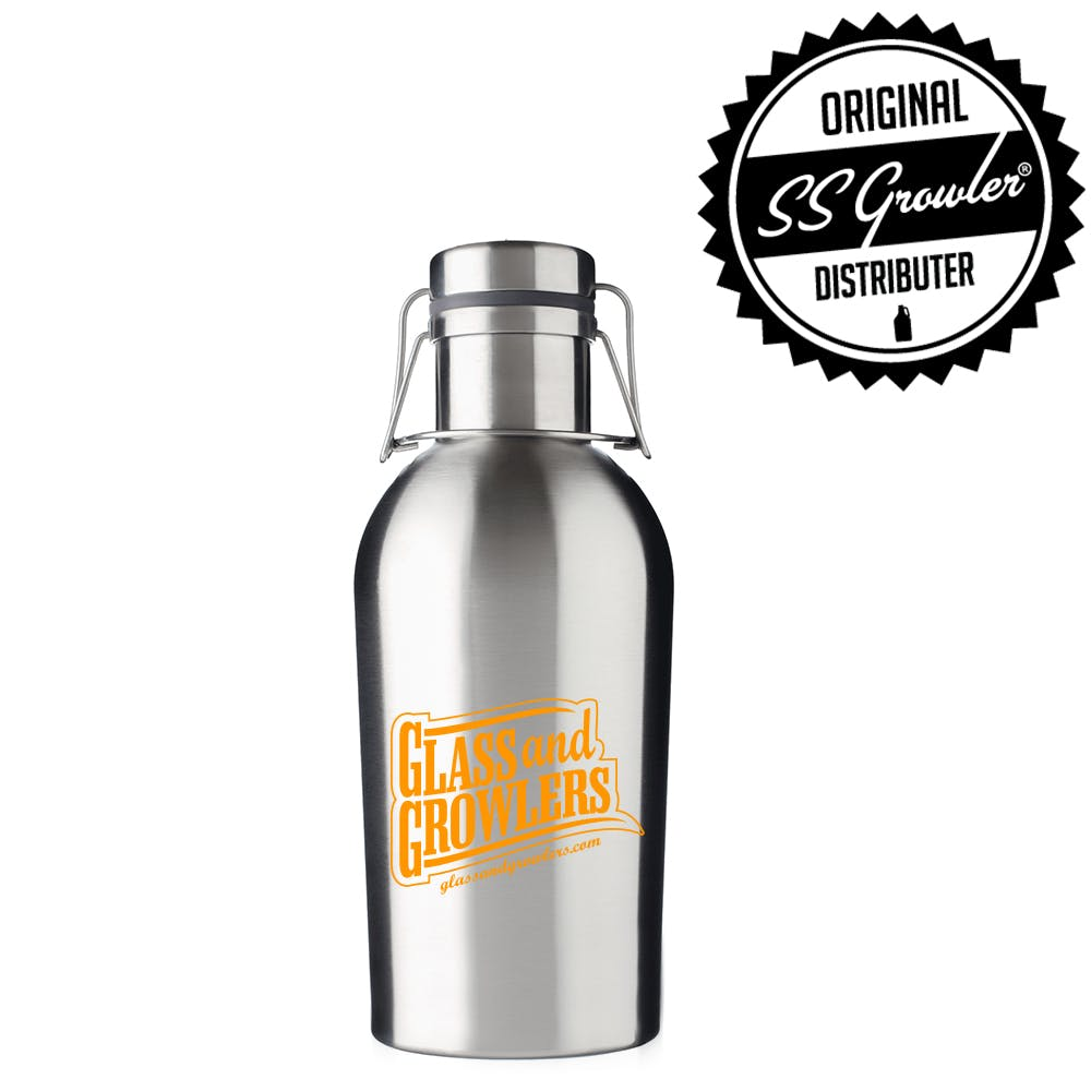 32oz Single Wall SS Growler Growler sold by Glass and Growlers