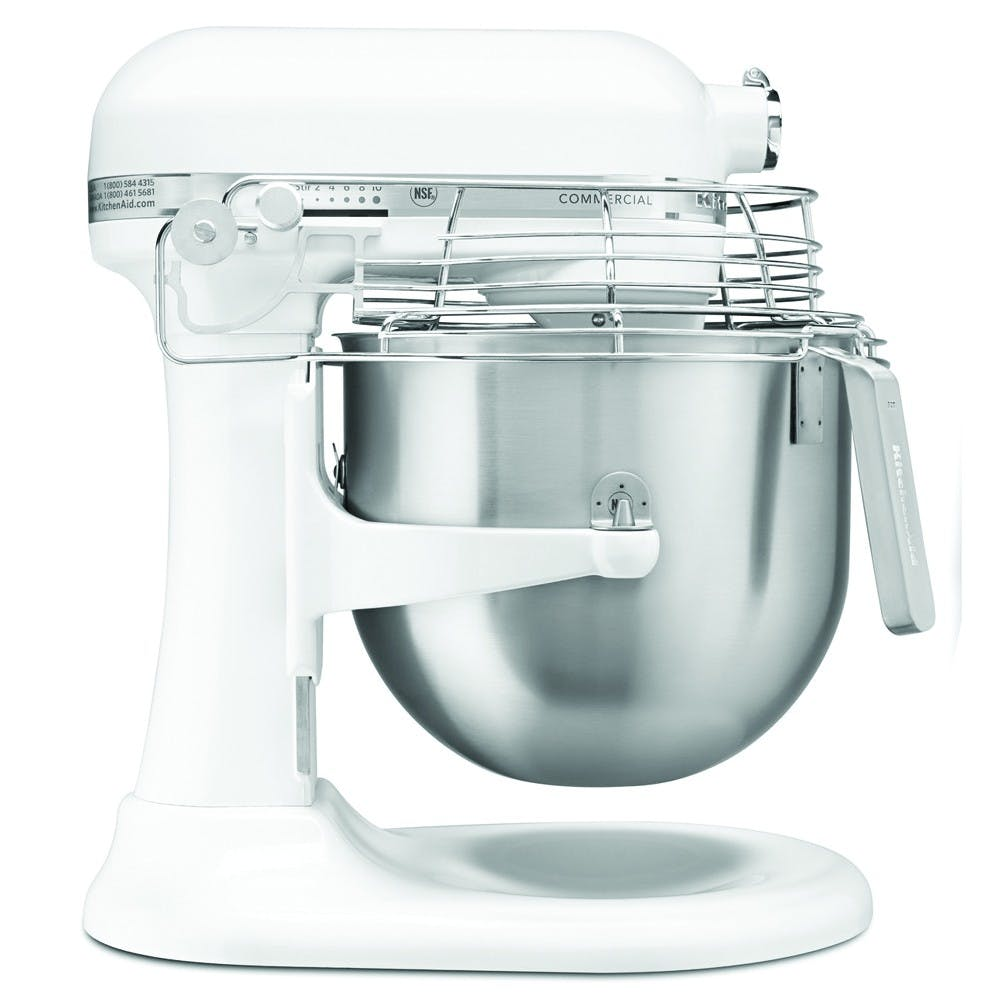 KitchenAid KSMC895WH 8 Qt NSF Commercial Stand Mixer w/ Bowl Guard - White Mixer sold by Mission Restaurant Supply