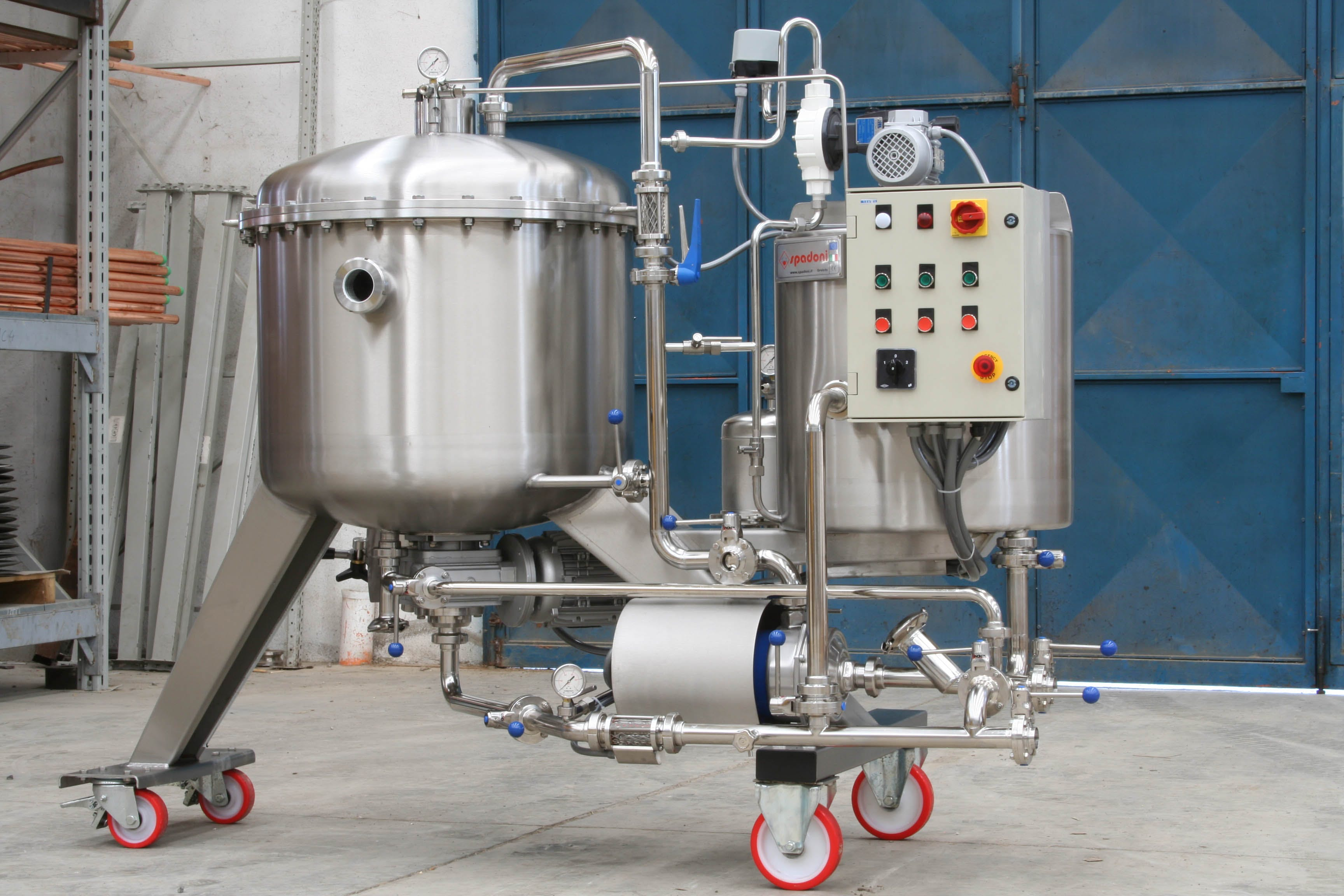 SPADONI D.E. FILTER Brewing filtration sold by Prospero Equipment Corp.