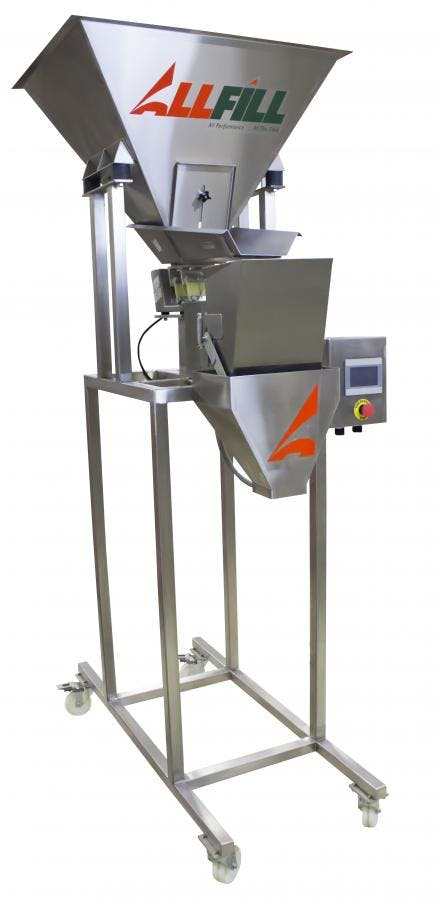 Model VF 100E 1-Lane - All-Fill Vibratory Filler Scales - sold by Package Devices LLC