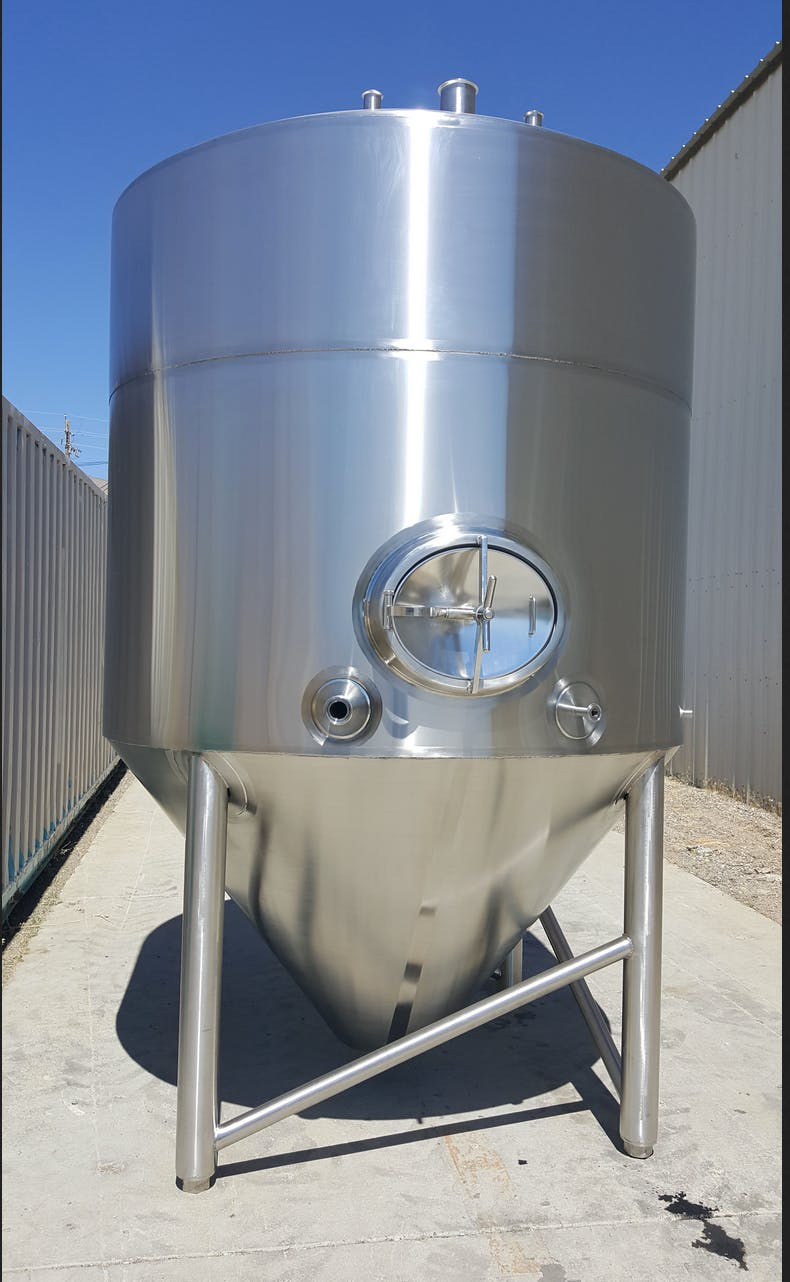 JMB Stainless Polished Fermenter Tank Fermenter sold by Rad Rails Stainless