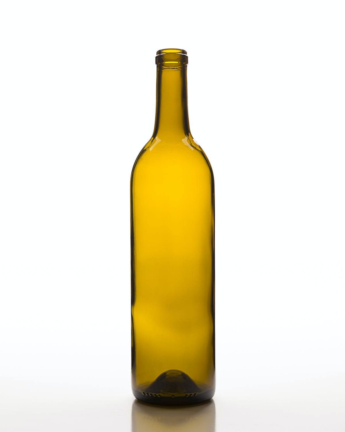 Mid Push Up Claret Wine bottle sold by Encore Glass