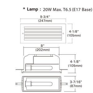 Water Proof Exterior or Interior Step Light 120VNPF Electronic Ballast - sold by RelightDepot.com