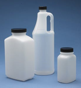 Oblong and Round Jugs With Caps Plastic bottle sold by Consolidated Plastics