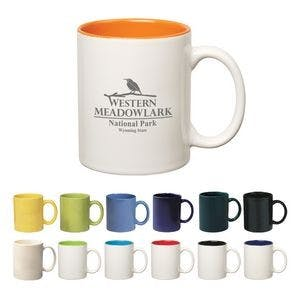 11 Oz. Colored Stoneware Mug With C-Handle Ceramic mug sold by Custom H2Oh!