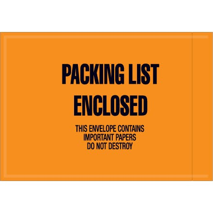 Mil-Spec Packing List Enclosed Paper Envelopes Paper packaging sold by Ameripak, Inc.
