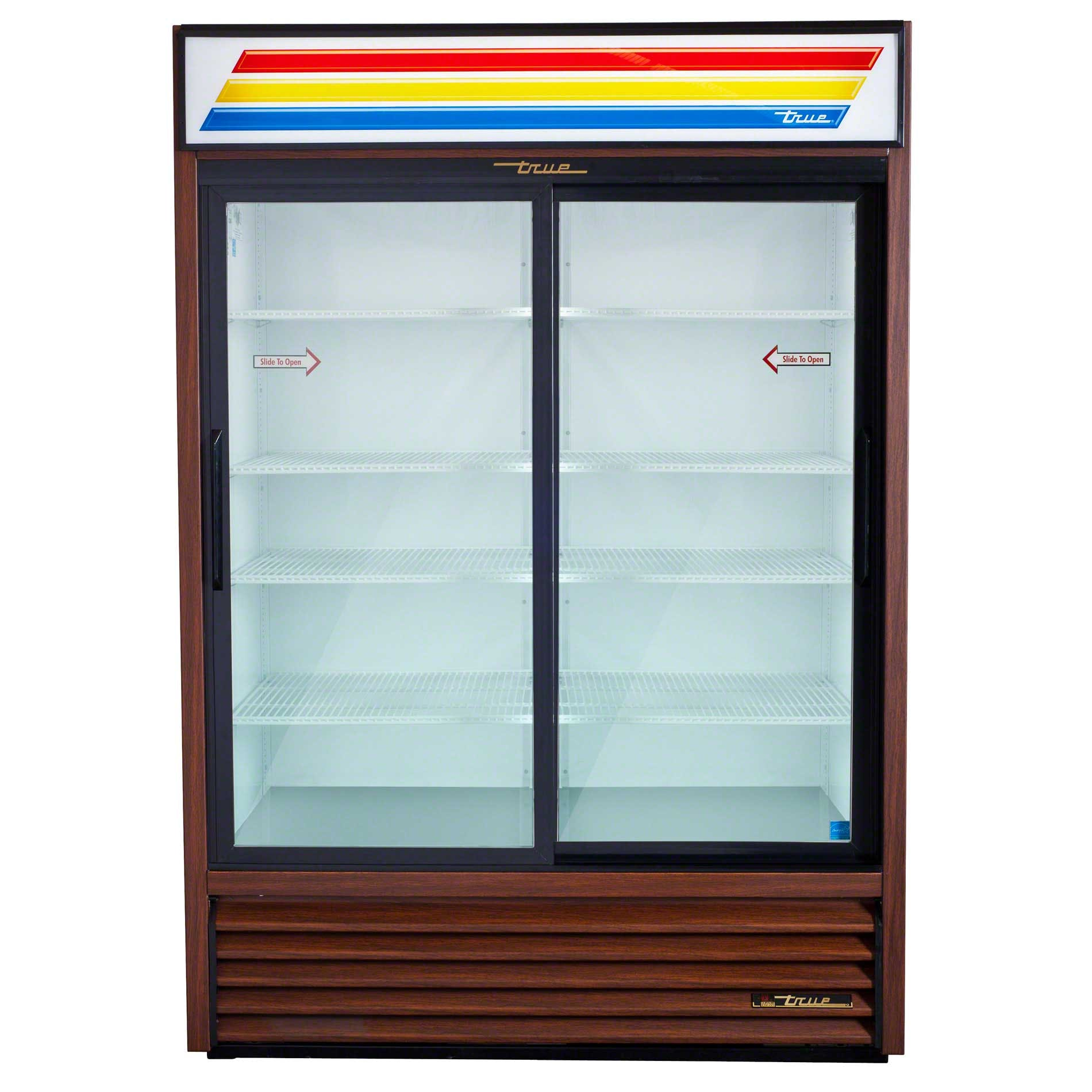 "True - GDM-47 54"" Slide Glass Door Merchandiser Refrigerator Commercial refrigerator sold by Food Service Warehouse"
