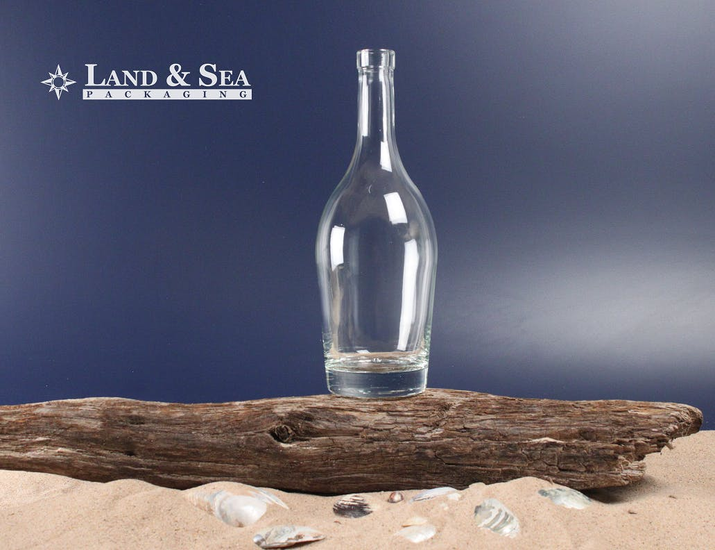 St. Genevieve Spirit Bottle Liquor bottle sold by Land & Sea Packaging