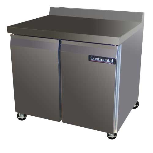 "Continental Refrigerator - SW36-BS 36"" Worktop Refrigerator Commercial refrigerator sold by Food Service Warehouse"