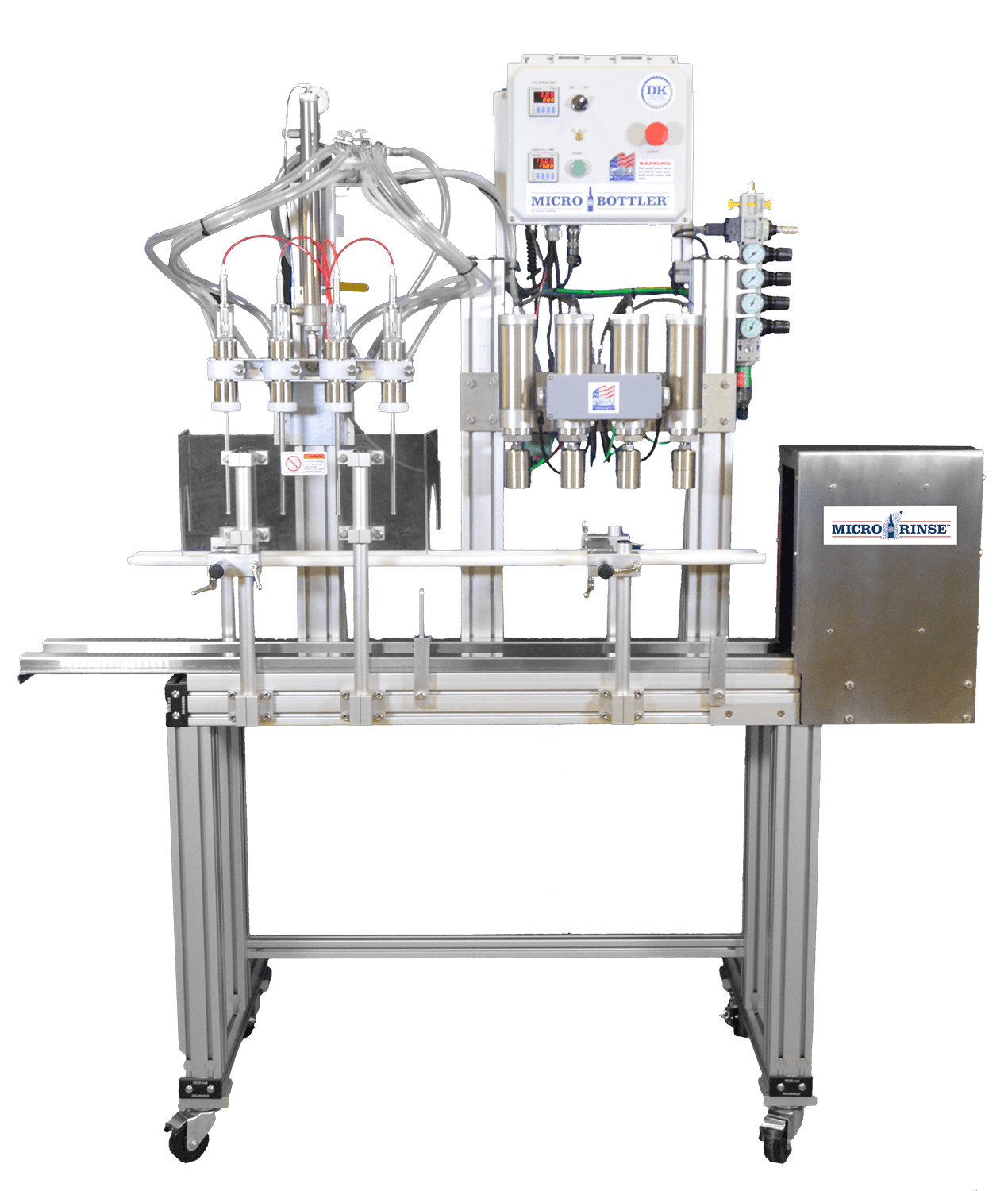 MicroBottler Semi-Automatic Bottling Line - sold by DK Advanced Technologies