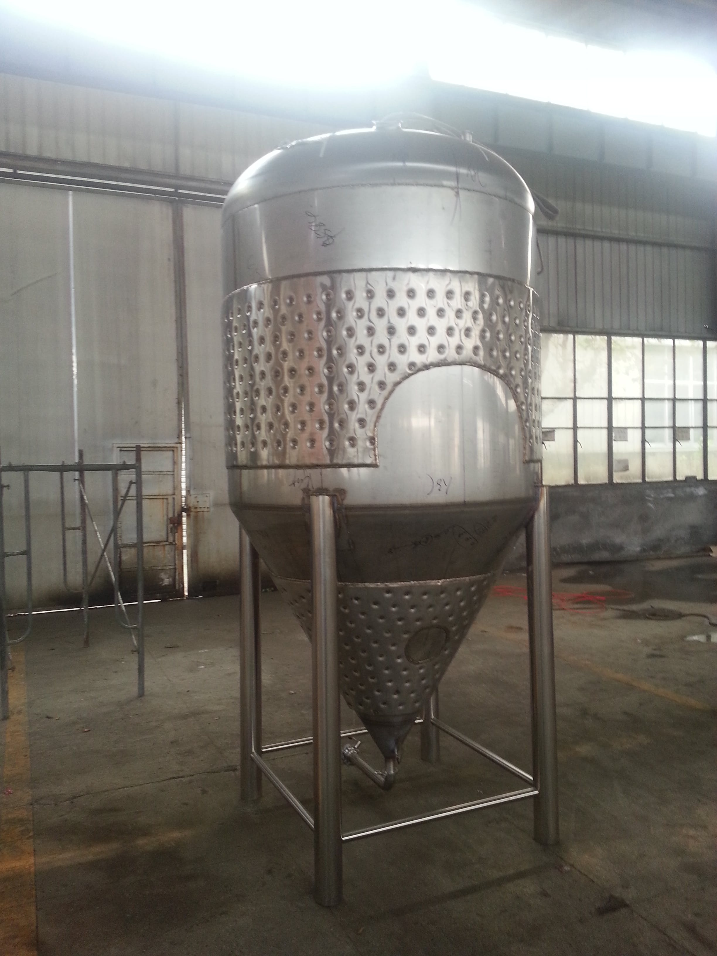 10 BBL Brite Tank, Jacketed Bright tank sold by Chicago Brewing Supplies