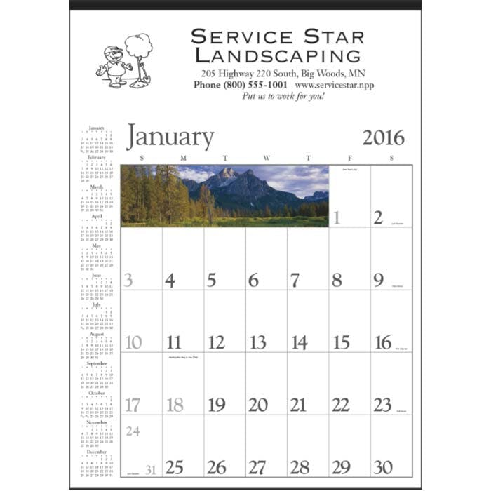 Norwood Promotional Products :: Product :: Decorator Memo (White) Custom calendar sold by Distrimatics, USA