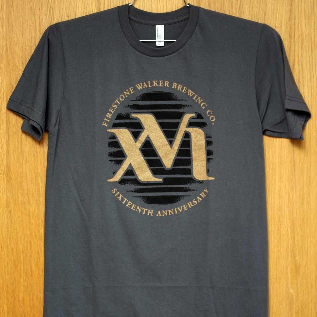 Ringspun cotton tee - Firestone Walker - XVI anniv Promotional shirt sold by Brewery Outfitters