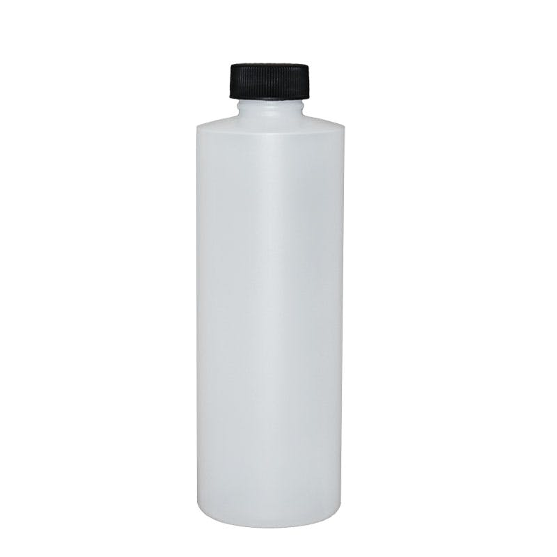 8oz Natural Plastic with foam cap Plastic bottle sold by Glass Bottle Outlet