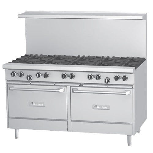 Garland G60-60RR - 10 Burner Gas Range - (2) Standard Ovens Commercial range sold by Elite Restaurant Equipment