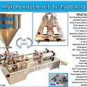 PISTON FILLER JET 2x-2500 A/O - Filling machine sold by Pro Fill Equipment