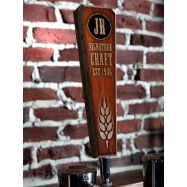 Customizable oak wood tap handles - sold by Barproducts.com