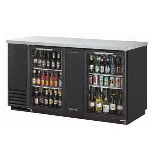 Turbo Air TBB-3SG Back Bar Cooler, Two-section, 69.1 Inches Wide, Two Glass Doors, Holds 157 6-Packs Back bar cooler sold by Mission Restaurant Supply