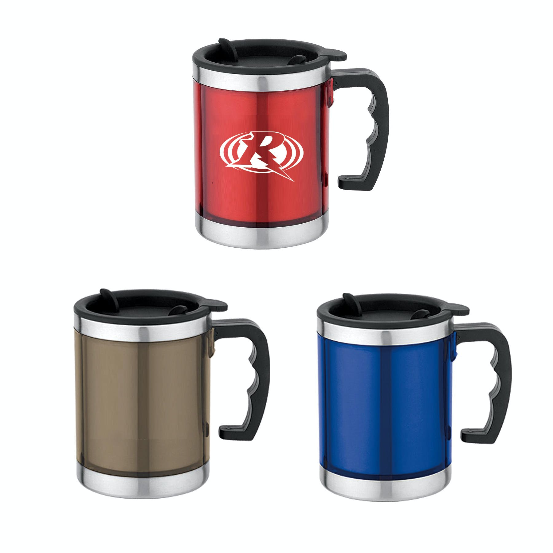 16 Oz. Stainless Steel Mug with Handle (Item # HIIPP-HASPY) Stainless steel mug sold by InkEasy