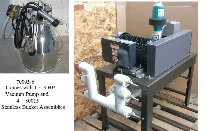 4 COW Milking Machine Milking machine sold by Simple Milking Equipment