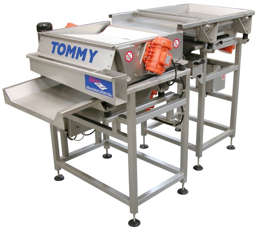 C.M.A. TOMMY TABLE Grape sorting tables Grape sorting table sold by Prospero Equipment Corp.