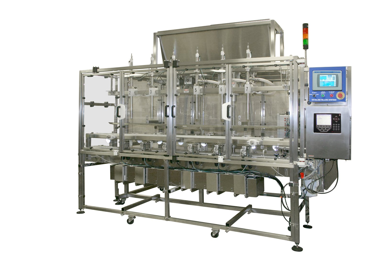 Net Weigh Filling Machine Bottle filler sold by Inline Filling Systems