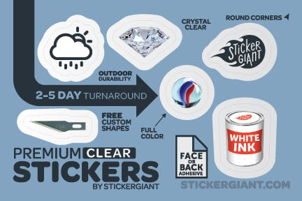 Clear Stickers Bottle label sold by StickerGiant