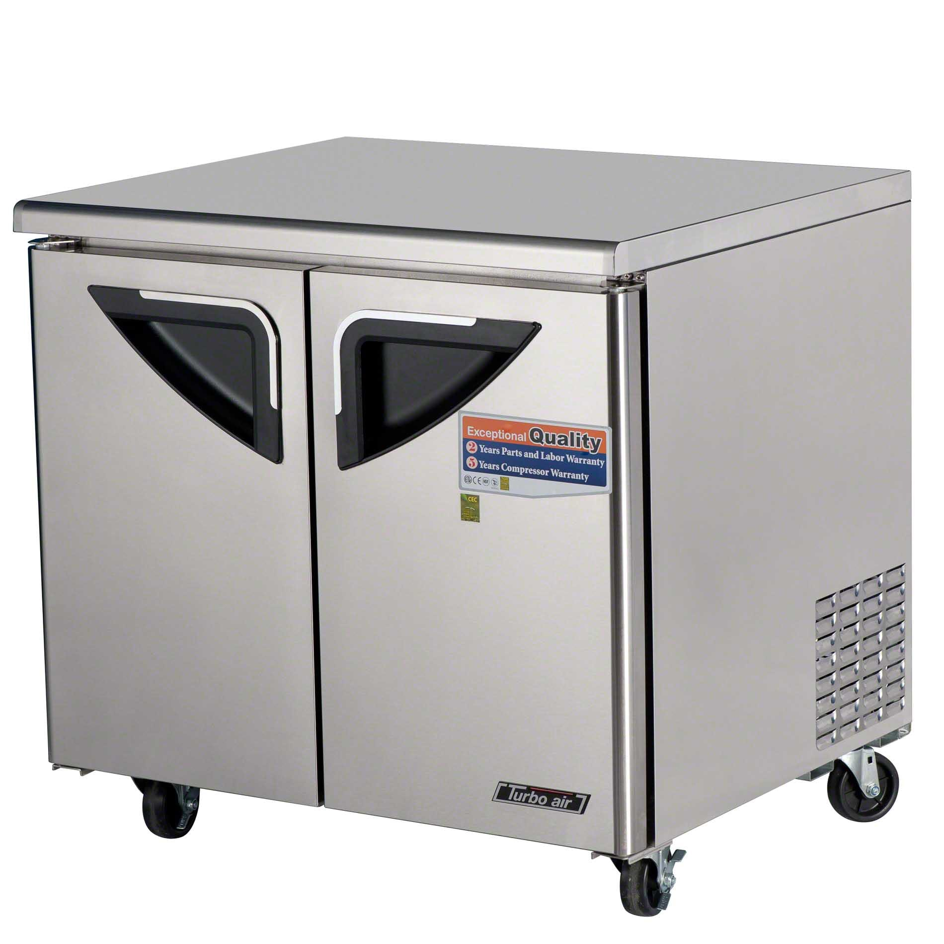 """Turbo Air - TUR-36SD 36"""" Undercounter Refrigerator – Super Deluxe Series - sold by Food Service Warehouse"""