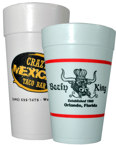 Custom Printed - Styrofoam Cups Disposable cup sold by Gator Paper