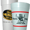 Custom Printed - Styrofoam Cups - Disposable cup sold by Gator Paper