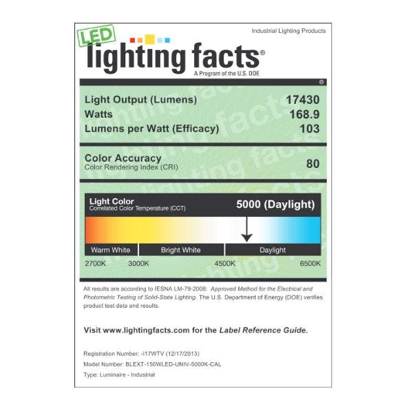 LED Blizzard Ext Wet Location Clear, 150W - sold by RelightDepot.com