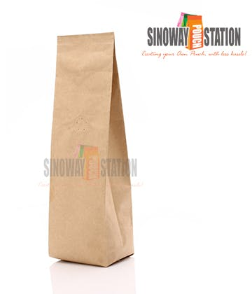 Kraft Side Gusseted Pouch - sold by sinowaypouchstation.com,LLC