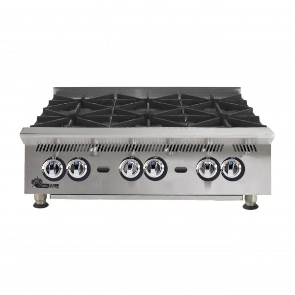 Ultra-Max 6 Burner Countertop NG Hot Plate