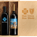 Double Wine Wood Gift Box (crate) - Wine box sold by Etching Expressions