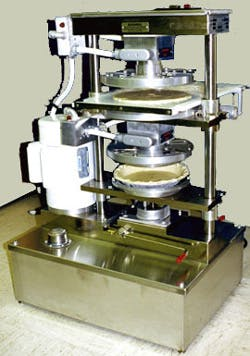 Comtec Model 2200 Double Crust Forming Press Pie Press sold by Bakery Equipment.com
