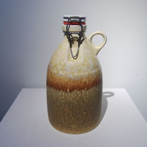 The Loop - Gold Crystal 64oz Growler sold by Portland Growler Company
