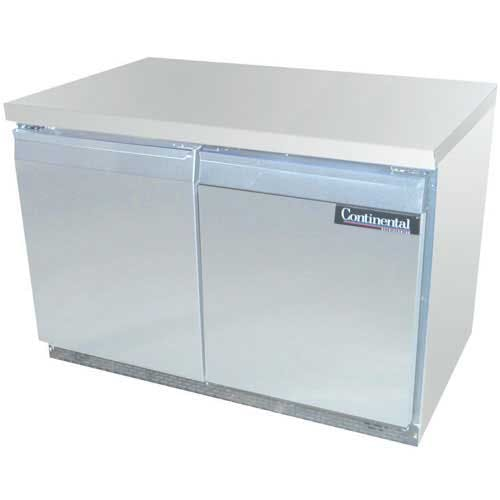 "Continental Refrigerator - SW48-FB 48"" Worktop Refrigerator Commercial refrigerator sold by Food Service Warehouse"