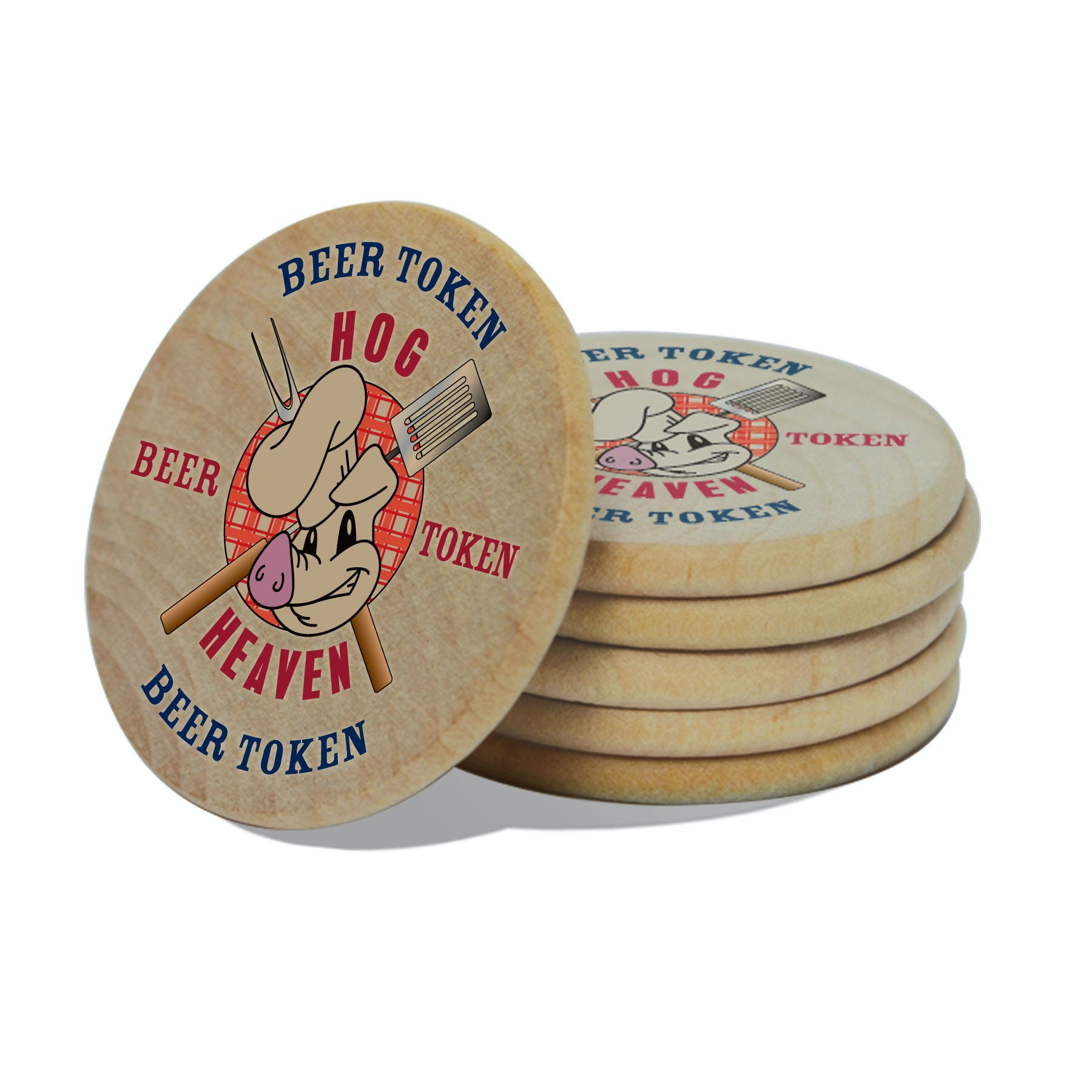 Wooden Token (Item # MHJIP-KAEEQ) Promotional token sold by InkEasy